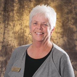Senior activities director, Gail Boleman ensures residents stay active.