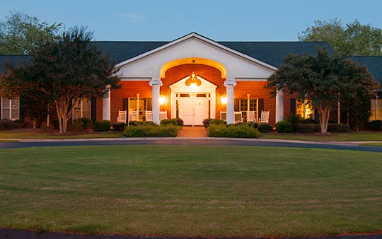 Our senior care center is located on a beautiful, wooded 19-acre estate.